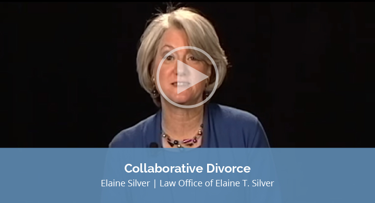 """Elaine Silver, Law Office of Elaine T. Silver, explains """"Collaborative Divorce"""" in this video."""