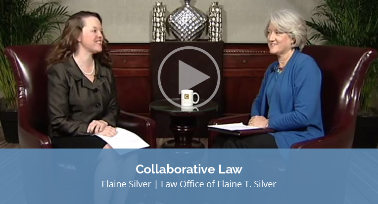 """Elaine Silver, Law Office of Elaine T. Silver, explains """"Collaborative Law"""" in this video"""
