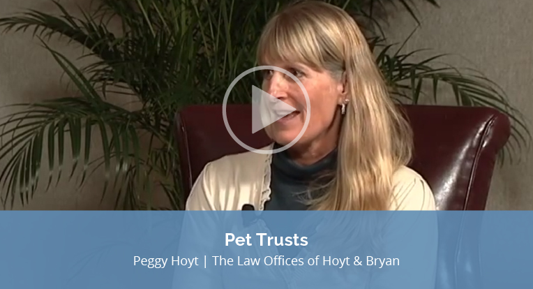 "Peggy Hoyt, the Law Offices of Hoyt & Bryan, explains ""Pet Trusts"" in this video."
