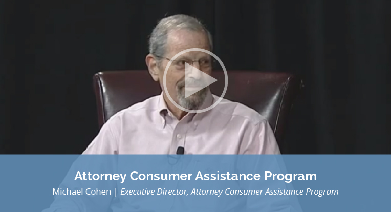 "Michael Cohen, Executive Director, Attorney Consumer Assistance Program explains ""Attorney Consumer Assistance Program"" in this video."