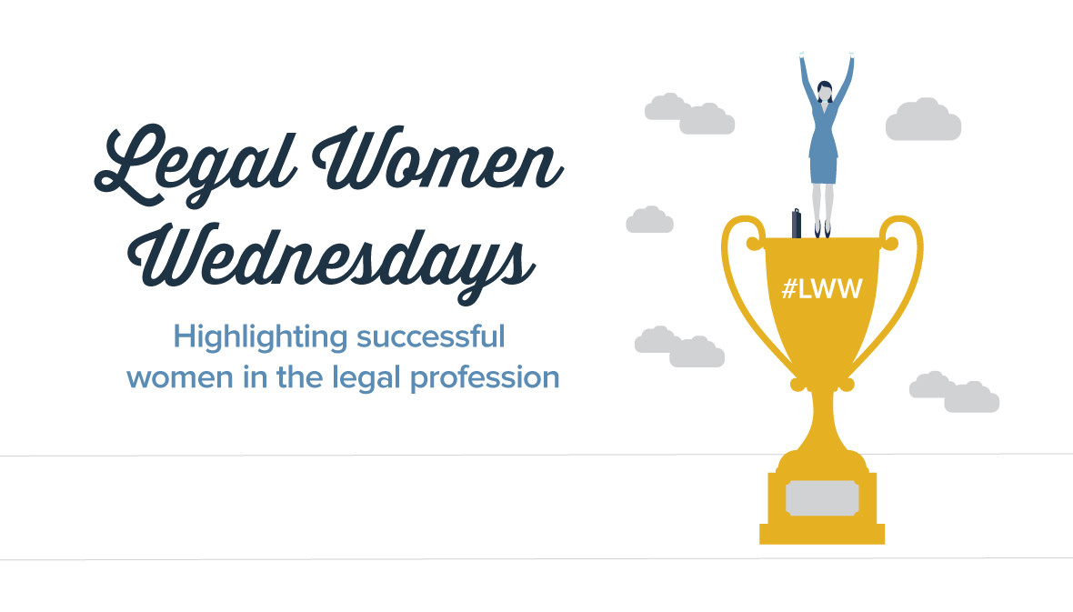YLD Legal Women Wednesdays on a white background with a gold trophy on the right