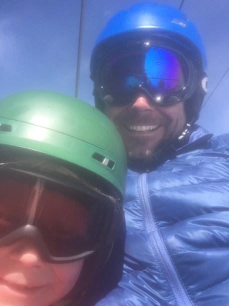 Bill Adams skiing