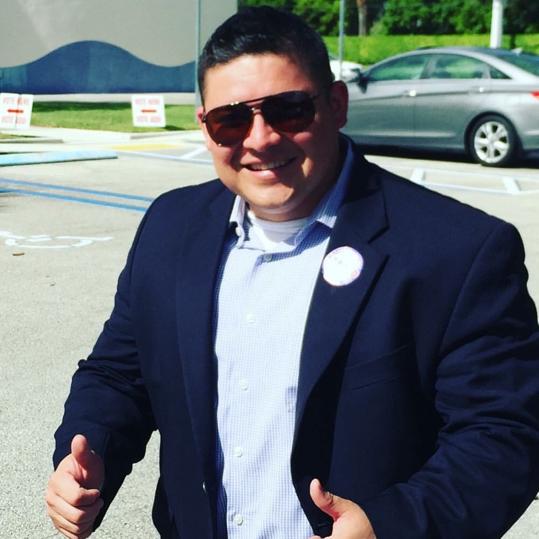 Judge Luis Delgado pictured outside