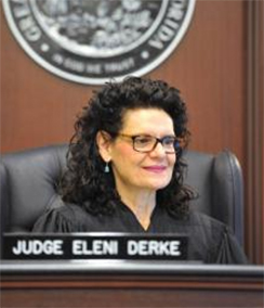 Judge Eleni Derke headshot