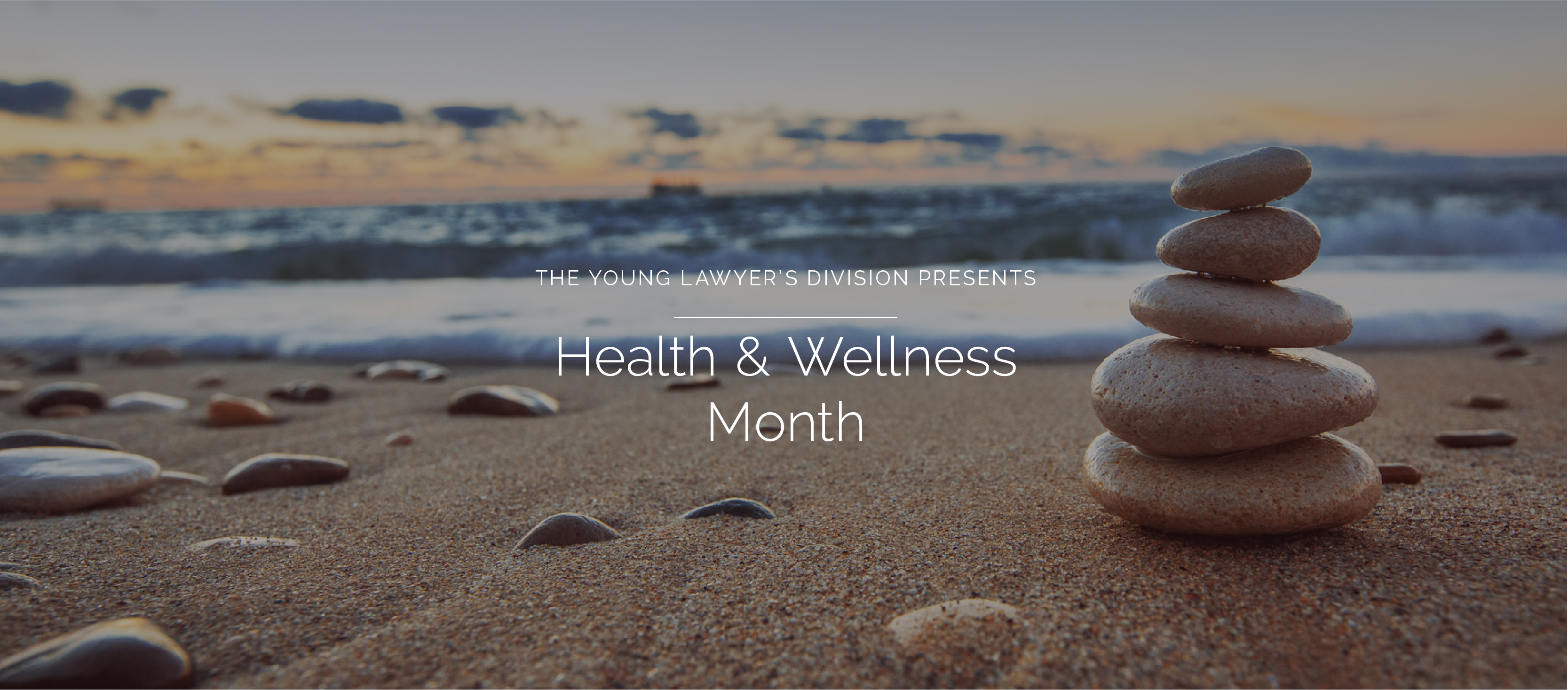 FLAYLD Health & Wellness Month with a beach background
