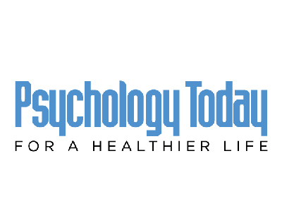 "FLAYLD Psychology Today logo with blue letters on top with small black letters that say ""For a healthier life"" underneath the title in black."